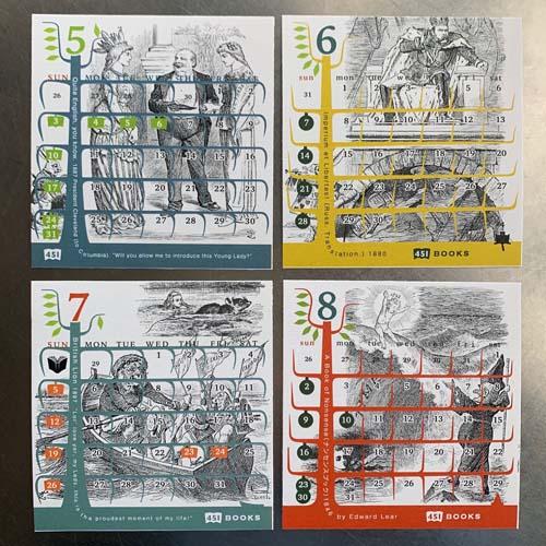 イギリスの挿絵画家ジョン・テニエルイラストカレンダー(雑誌パンチと不思議の国のアリスから)