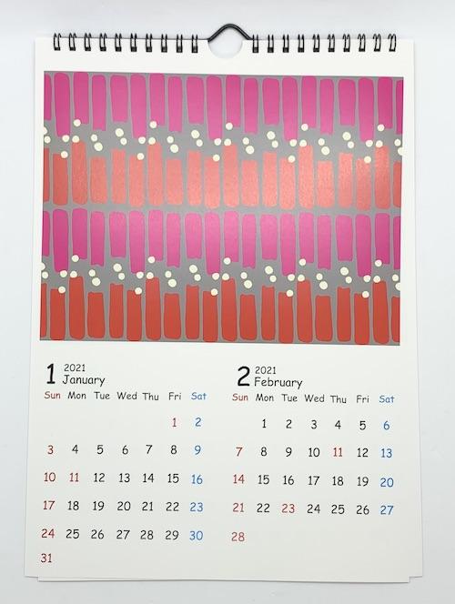 Zakuroテキスタイルカレンダー2021